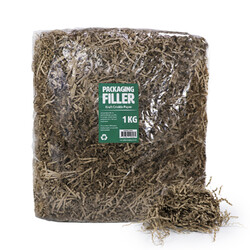 Shredded Paper Shreds Filler - 1KG - Kraft Natural