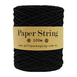Paper Twine - 2mm x 100metres - Black Paper String