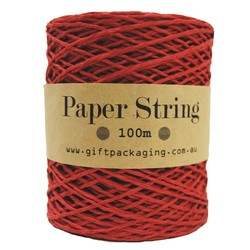 Paper Twine - 2mm x 100metres - Red Paper String