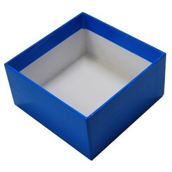 Rigid Box - No Lid - 115mm x 115mm x 60 - Blue