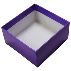 Rigid Box - No Lid - 115mm x 115mm x 60 - Purple