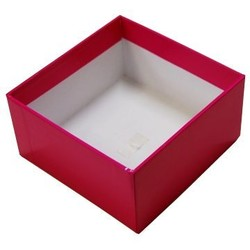 Rigid Box - No Lid - 115mm x 115mm x 60 - Pink
