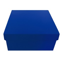 Square Rigid Gift Box - With Lid - 115mm x 115mm x 60mm - Blue