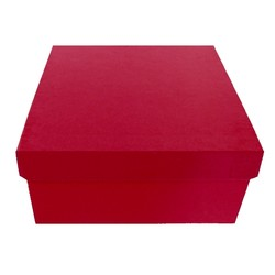Square Rigid Gift Box - With Lid - 115mm x 115mm x 60mm - Pink