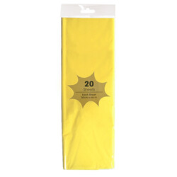 Tissue Paper - 20 Sheets - Yellow