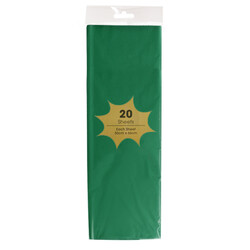Tissue Paper - 20 Sheets - Emerald Green