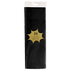 Tissue Paper - 20 Sheets - Black