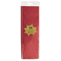 Tissue Paper - 20 Sheets - Red