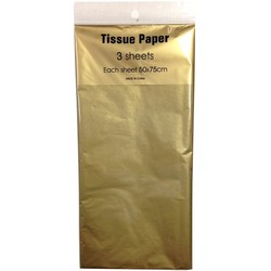 Tissue Paper - 3 sheet -Metallic Gold