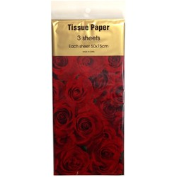 Tissue Paper Printed - 3 sheet - Floral Roses