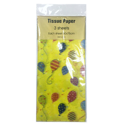 Tissue Paper Printed - 3 sheet - Balloons