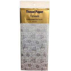 Tissue Paper Printed - 3 sheet - Silver Wedding