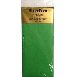 Tissue Paper - 5 sheet - Emerald Green