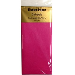 Tissue Paper - 5 sheet - Hot Pink