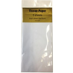 Tissue Paper - 5 sheet - White