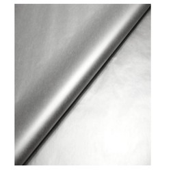 Tissue Paper Ream 750mm x 500mm, 240 Sheets - Metallic Silver