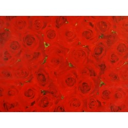 Tissue Paper Ream 750mm x 500mm, 240 Sheets - Red Roses
