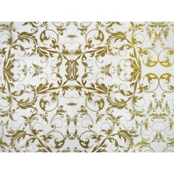Tissue Paper Ream 750mm x 500mm, 240 Sheets - Gold Florentine