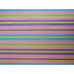 Tissue Paper Ream 750mm x 500mm, 240 Sheets - Pastel Stripes