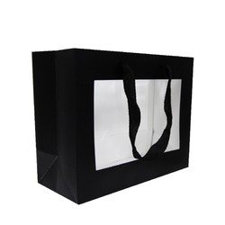 Window Gift Bag - Small/Medium Boutique Matt Finish - Black