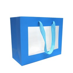 Window Gift Bag - Small/Medium Boutique Matt Finish - Blue