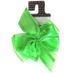 create a gift - Luxury Double Bow - Lime Green