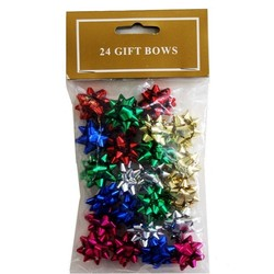 24 x 2.5cm - Mini Gift Bows - Metallic Mix Pack