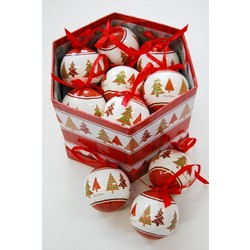 14pc Christmas Bauble Trees Gift Box Set