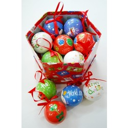 14pc Christmas Bauble Mix Gift Box Set