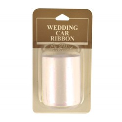 Wedding Car Ribbon 50mm x 6M - Cream