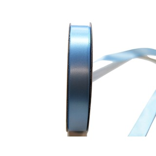 Satin Ribbon - Woven Edge -15mm x 30m - Light Blue