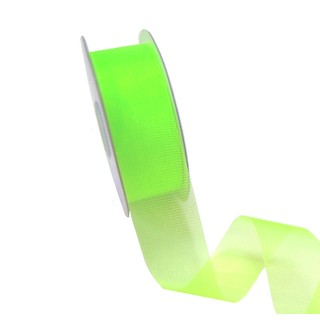 Sheer Organza Cut Edge Ribbon - 25mm x 50m - Light Green
