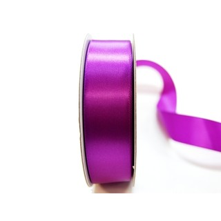 Satin Ribbon - Woven Edge -25mm x 30m - Purple