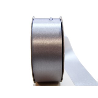 Water Repellent Satin Ribbon - 38mm x 45m - Silver