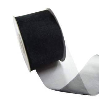 Sheer Organza Cut Edge Ribbon - 50mm x 25m - Black