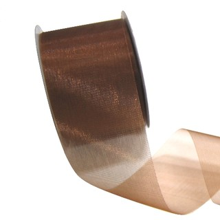 Sheer Organza Cut Edge Ribbon - 50mm x 25m - Copper