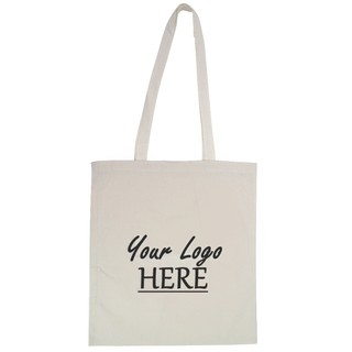 Custom Printed Calico Bags 37cm x 42cm with two long handles - Your Logo with 1 Colour, 1 side