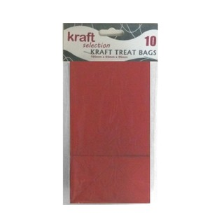 Kraft Treat Bags - 10pcs - Red (Without Handles)