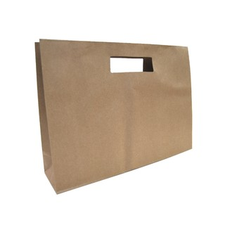 Kraft Bags - Premium Die Cut Kraft Brown Medium Boutique Gift Bag