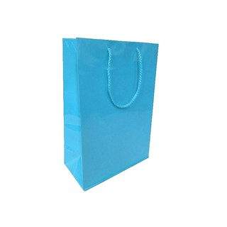 Gift Carry Bags - Glossy Turquoise Blue - Medium/Large