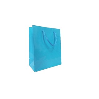 Gift Carry Bags - Glossy Turquoise Blue - Small/Medium