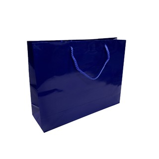 Gift Carry Bags - Glossy Navy Blue - Boutique