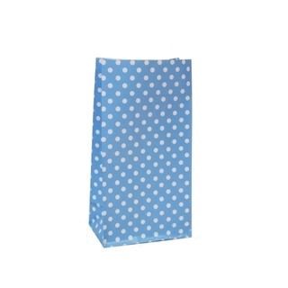 Paper Party Loot Bags - Blue Polka Dots
