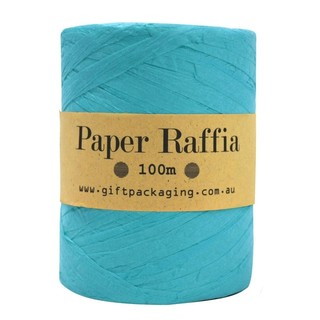 Paper Raffia - 4mm x 100metres - Turquoise