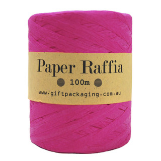 Paper Raffia - 4mm x 100metres - Hot Pink