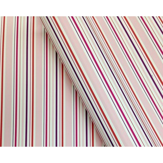 Wrapping Paper - 500mm x 60M - Pink Multi Stripes