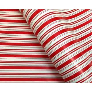 Wrapping Paper - 500mm x 60M - Red White Stripes