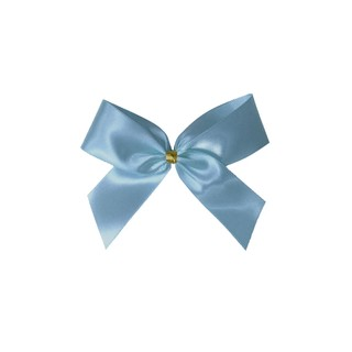 Satin Bow - 7cm - Light Blue - 100pk
