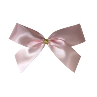 Satin Bow With Bottle Loop - 10cm - Light Pink - 50pk