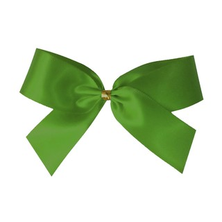 Satin Bow With Bottle Loop - 10cm - Moss Green - 50pk